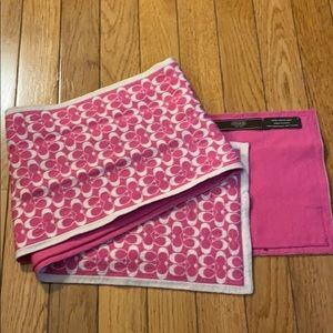 Authentic Pink 100% Merino Wool Coach Scarf